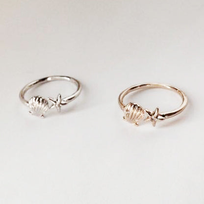 Shell and Starfish Ring Wholesale
