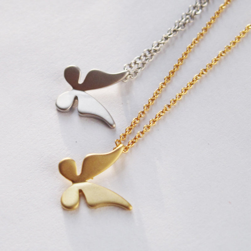 Solid Butterfly Necklace Wholesale