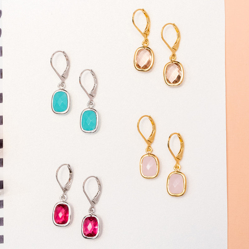 Square Gem Earring