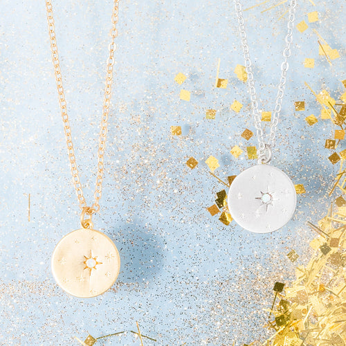 Star Opal Round Pendant Necklace