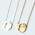 Sun and Moon Disc Necklace Wholesale