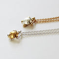 Two Tone Turtle Necklace Wholesale