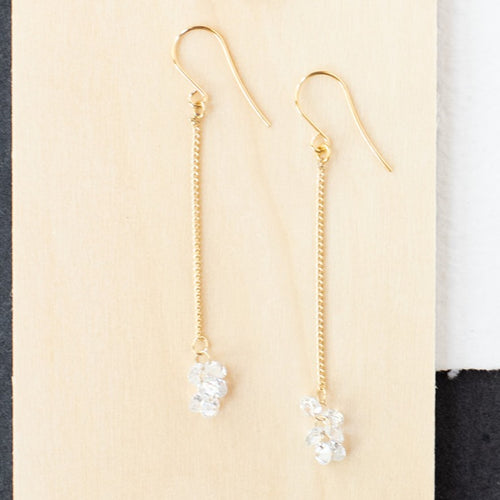 Cube Chain Dangle Earrings