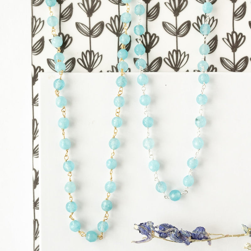 Chalcedony Rosary Necklace