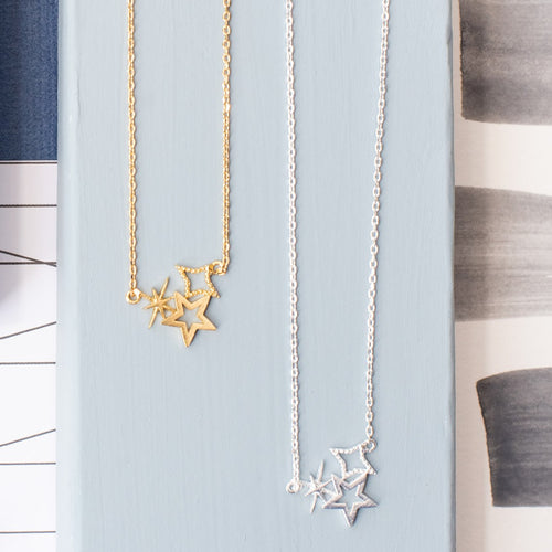 Stars Three Necklace