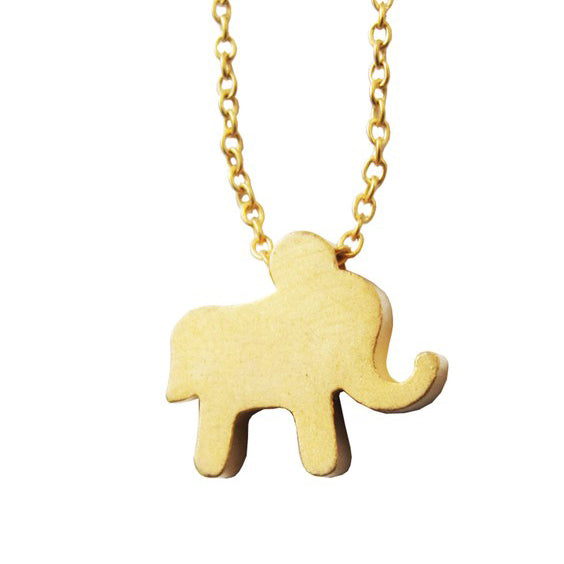 Rebecca Jewelry Elephant Necklace Gold.jpg