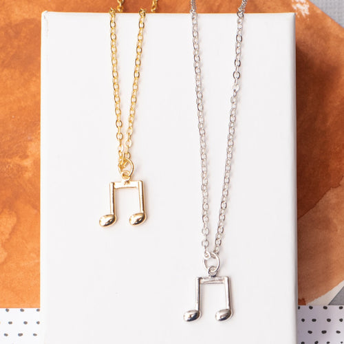 Music Medium Note Necklace