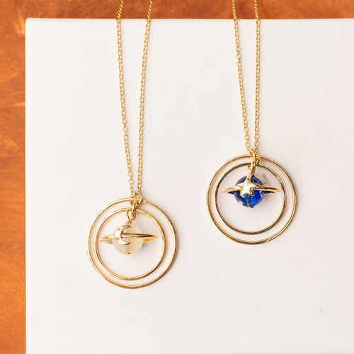 Saturn Circle Necklace