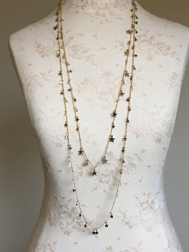 Star Extra Long Layering Necklace