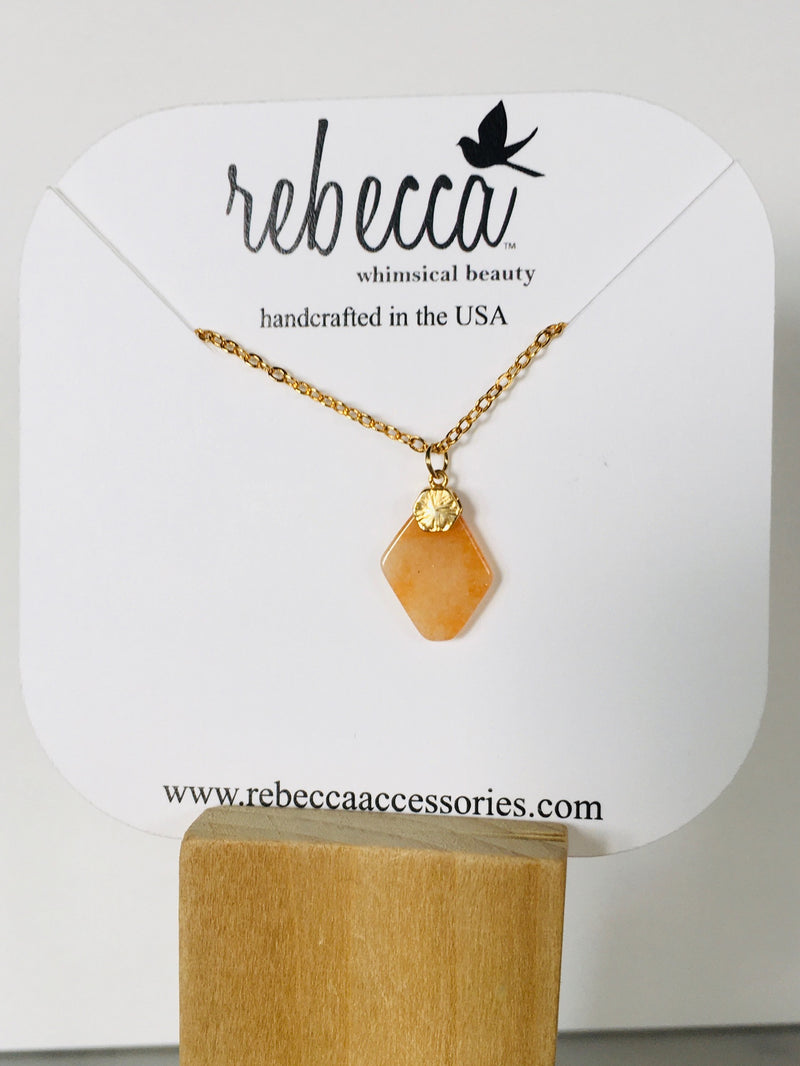 Orange Agate Necklace