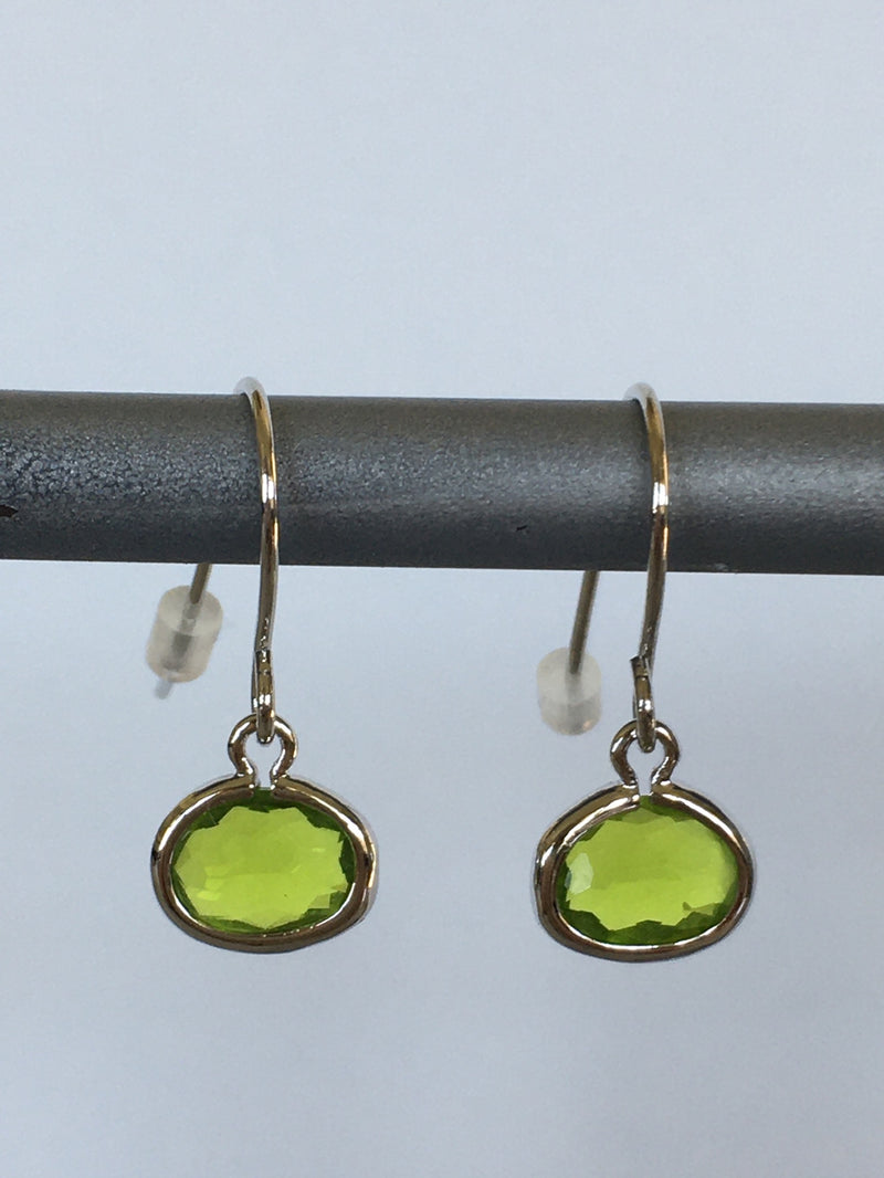 Apple Gemstone Fish Hook Earring