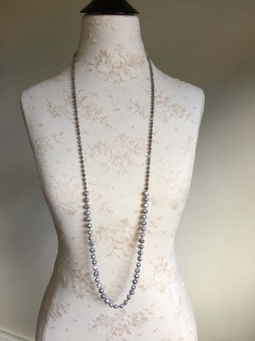 Freshwater Pearl Extra Long Gemstone Necklace
