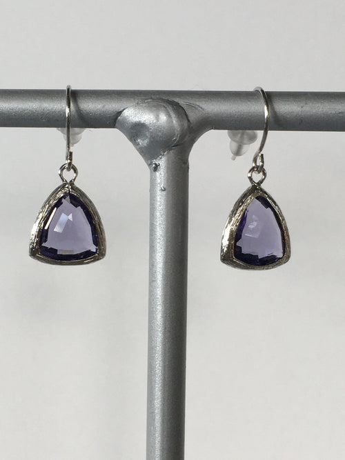 Plum Gemstone Earring