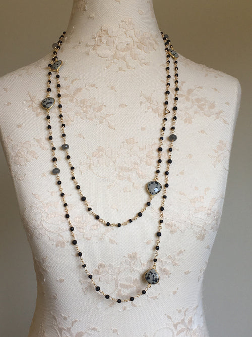 Gemstone Extra Long Necklace
