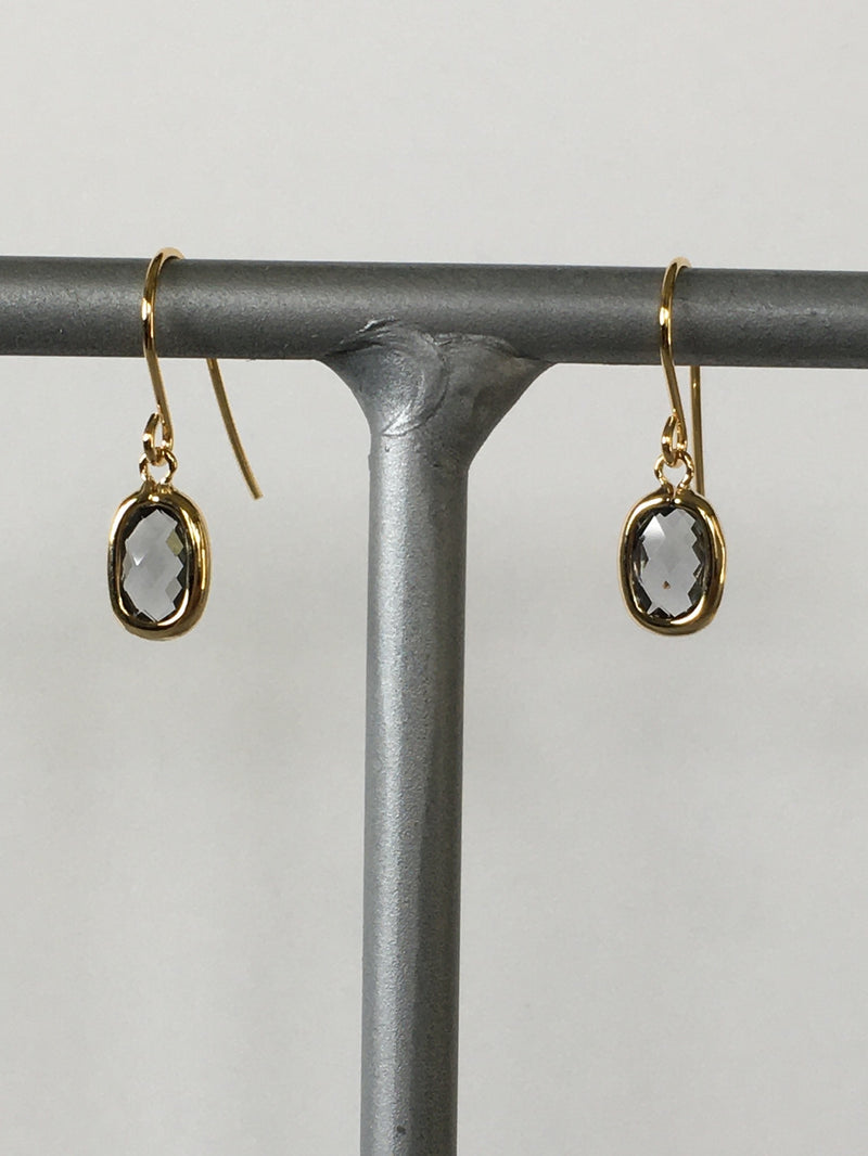 Smokey Gray Gemstone Earring