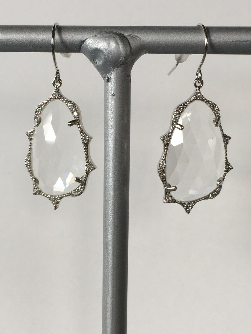 Clear gemstone earrings