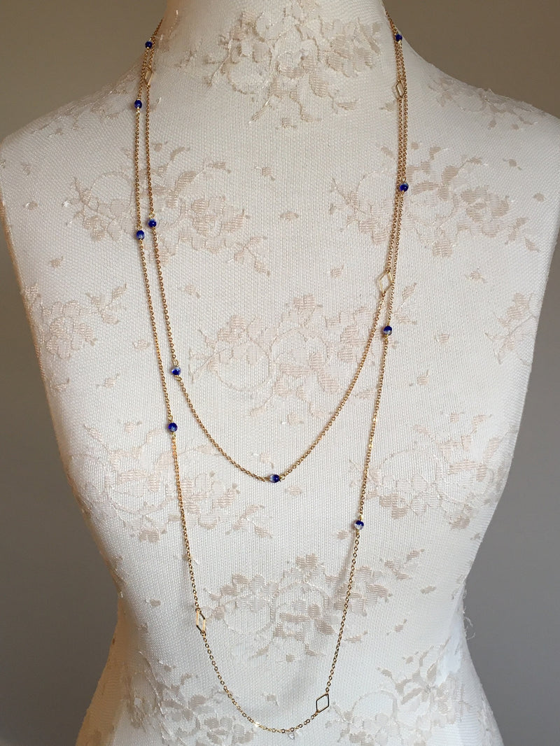 Glass Extra Long Necklace