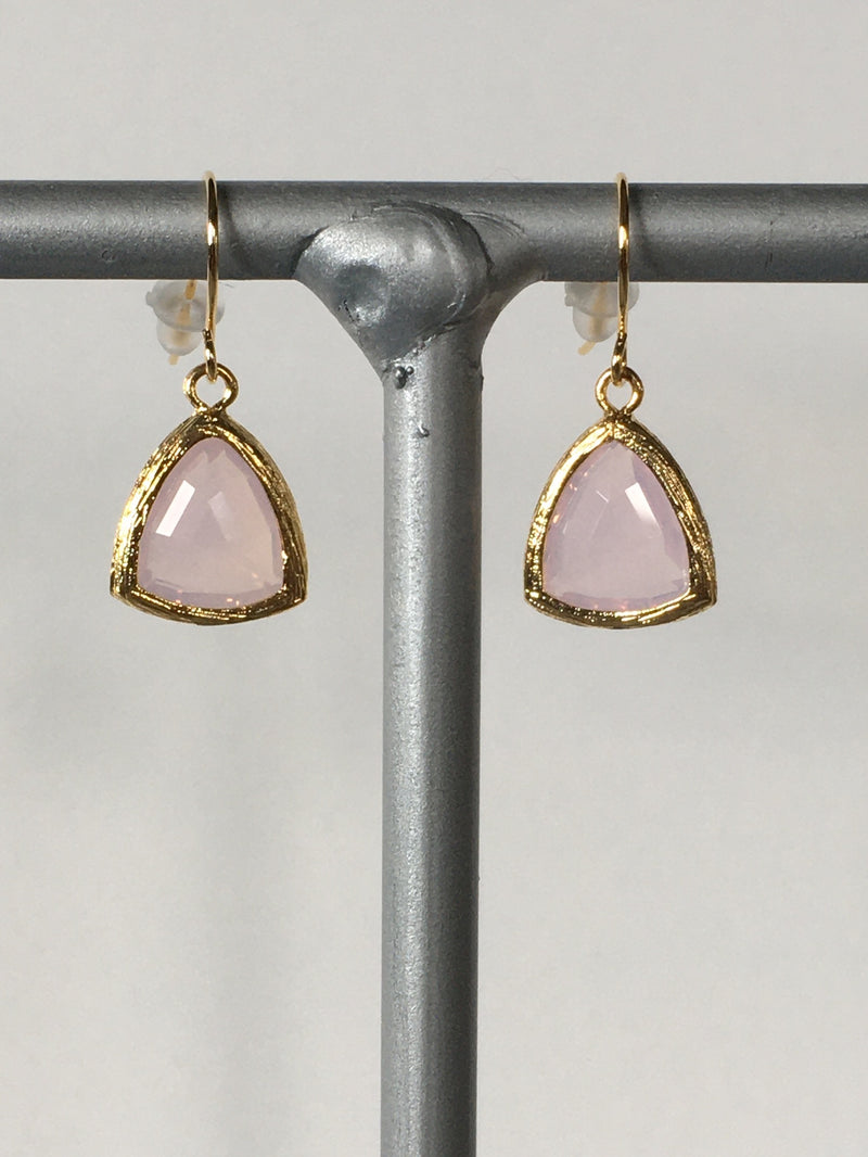 Pink Gemstone Earring