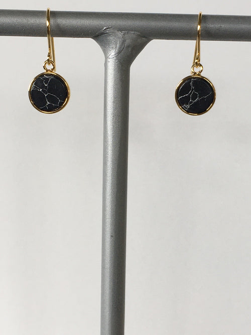 Black Howlite Earring