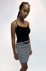 Houndstoof Printed Mini Skirt With Belt