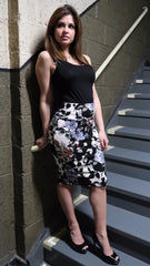 Floral Bodycon Pencil Skirt