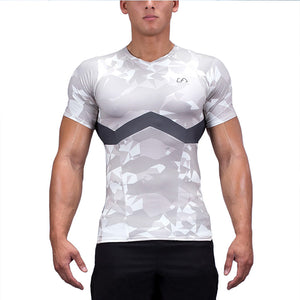 T-shirt de compression - Manches courtes - 2 coloris - Running & Fitness
