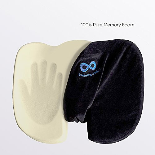 Everlasting Comfort 100 Pure Memory Foam Luxury Seat Cushion Orthopedic Design To Relieve Back Sciatica Coccyx And Tailbone Pain Perfect For
