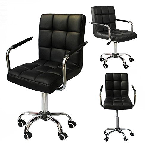 yaheetech modern pu leather midback adjustable executive office