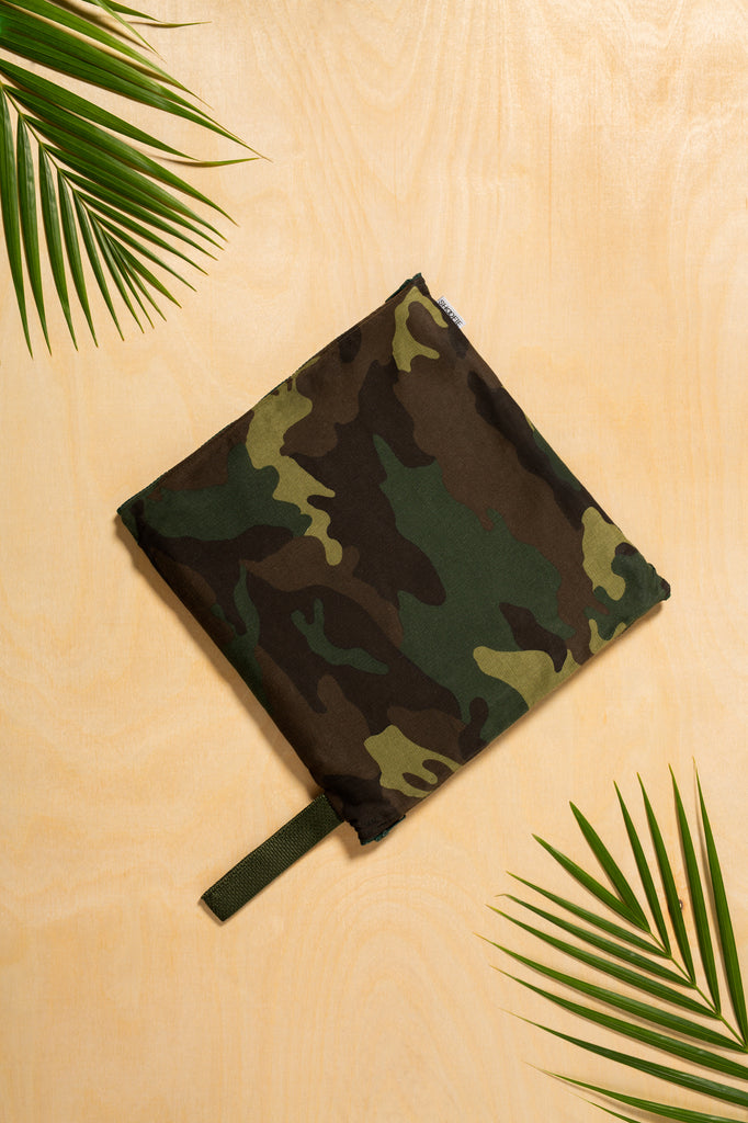 SHOOFIE shoe bag in Green Camo print