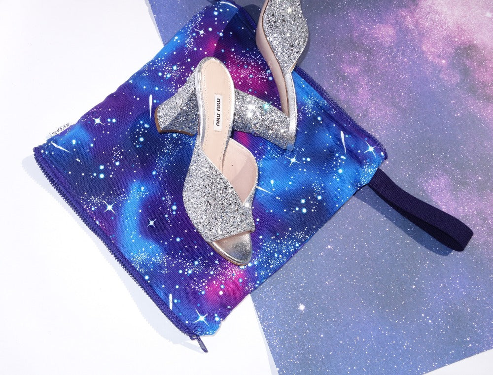 Galaxy print SHOOFIE in Ultra Violet