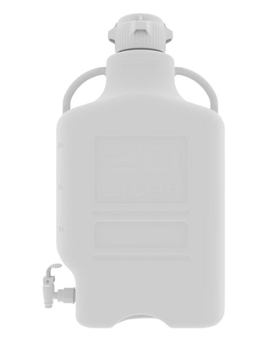 Foxx Life Sciences 155-3211-OEM Carboy, 20L, Polypropylene, 83B Cap, w Spigot - Government Lab Enterprises