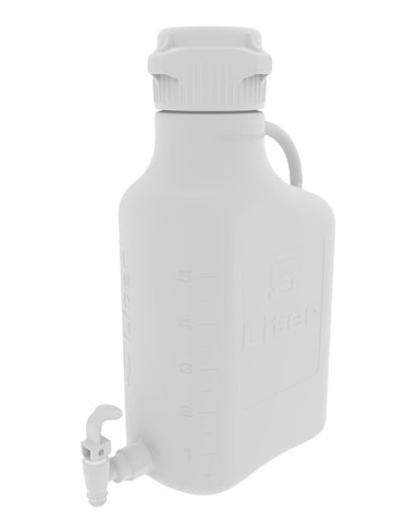 Foxx Life Sciences 152-1211-OEM Carboy, 5L, HDPE, 83B Cap, w Spigot - Government Lab Enterprises