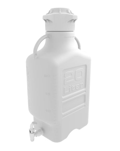 Foxx Life Sciences 152-3221-OEM Carboy, 20L, HDPE, 120mm Cap, w Spigot - Government Lab Enterprises