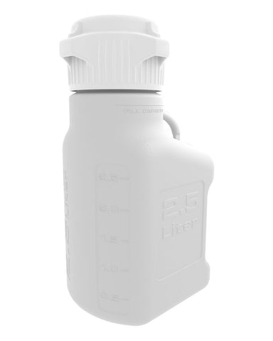 Foxx Life Sciences 152-0111-OEM Carboy, 2.5L, HDPE, 83mm Cap - Government Lab Enterprises