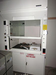 Hamilton Pioneer 4 foot fume hood with dished epoxy countertop - Government Lab Enterprises