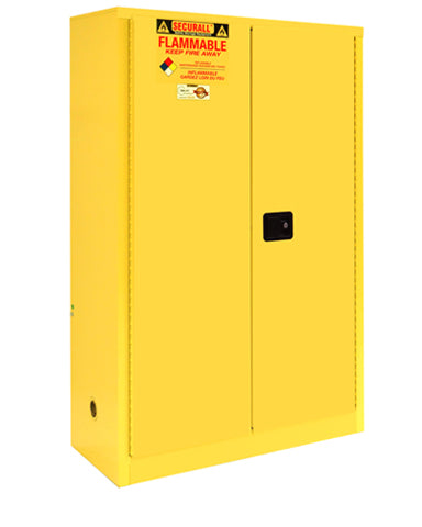 Securall A145 45 gallon Flammable Storage Cabinet with Self-Latch Hinged Doors - Government Lab Enterprises