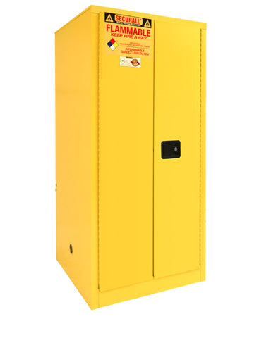 Securall A160 60 gallon Flammable Storage Cabinet with Self-Latch Hinged Doors - Government Lab Enterprises