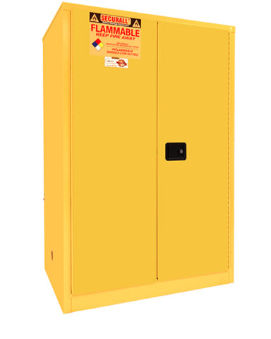 Securall A190 90 gallon Flammable Storage Cabinet with Self-Latch Hinged Doors - Government Lab Enterprises
