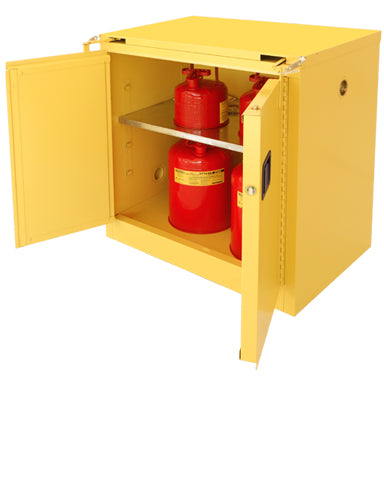 Securall A330 30 gallon Flammable Storage Cabinet with Self-Closing Self Latching T-Doors - Government Lab Enterprises