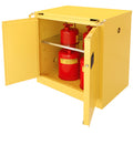 Securall A331 30 gallon Flammable Storage Cabinet with Self-Closing Self Latching T-Doors - Government Lab Enterprises