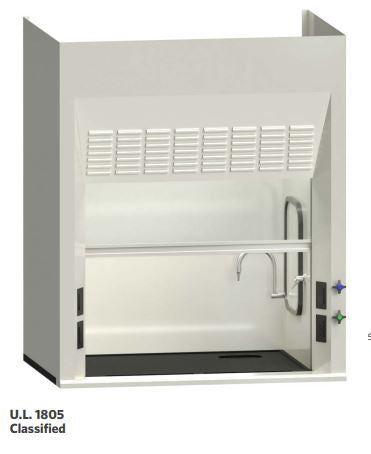 AMS EH-111-48 Eliminator 100 Series 4 foot Benchtop Fume Hood Package