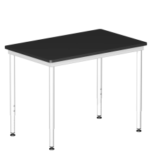"AMS Solution Series 48""L Adjustable Height (30""-36""H) Lab Table with Epoxy Resin Top - Government Lab Enterprises"