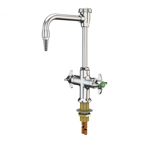 "WaterSaver Deck Mounted Laboratory 8"" Swing Mixing Gooseneck Faucet with Vacuum Breaker - Government Lab Enterprises"