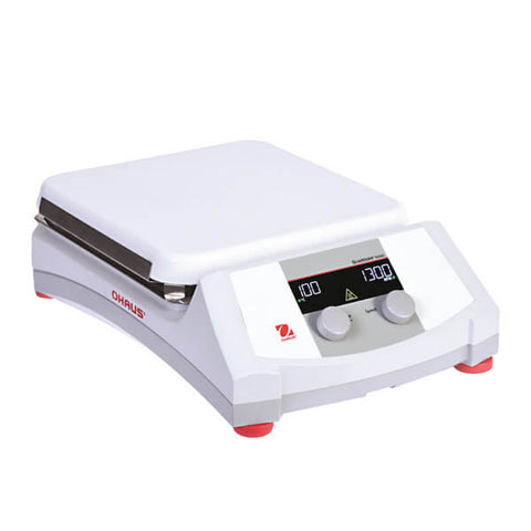 OHAUS e-G51HS07C Guardian 5000 Hotplate Stirrer with 7 in. x 7 in. Ceramic Plate (15L, 120V) - Government Lab Enterprises