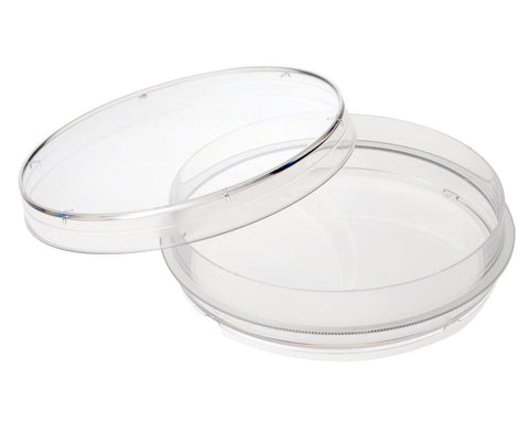 CELLTREAT  229620 100mm x 20mm Tissue Culture Treated Dish w/Grip Ring, Sterile, 500PK - Government Lab Enterprises