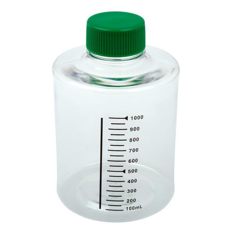 CELLTREAT 229382 490cm2 Roller Bottle, Tissue Culture Treated, Printed Graduations, Non-Vented Cap, Sterile, 24PK - Government Lab Enterprises