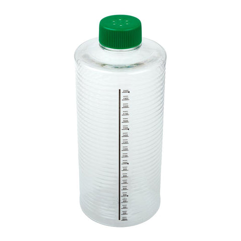 CELLTREAT 229387 1900cm2 ESRB Roller Bottle, Tissue Culture Treated, Printed Graduations, Vented Cap, Sterile, 12PK - Government Lab Enterprises