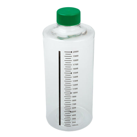 CELLTREAT 229584 2000mL Roller Bottle, Non-treated Suspension Culture, Printed Graduations, Non-Vented Cap, Sterile- 24PK - Government Lab Enterprises