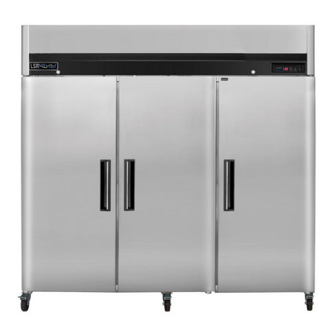LSR Model LSRP-R-72 Premium Triple Door 72 cu. ft. Stainless Steel Refrigerator - Government Lab Enterprises