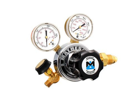 "Matheson Series 18 Single Stage CO2 brass regulator (CGA 320) with 1/4"" outlet valve - Government Lab Enterprises"